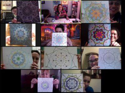 Virtual Mandala Drawing Class